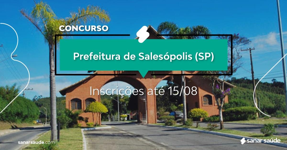Concurso de Salesópolis - SP: cargos na Saúde!