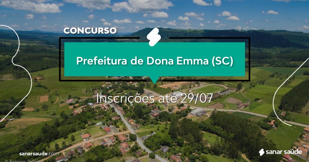 Concurso de Dona Emma - SC: na Saúde, vaga para fisioterapeuta!