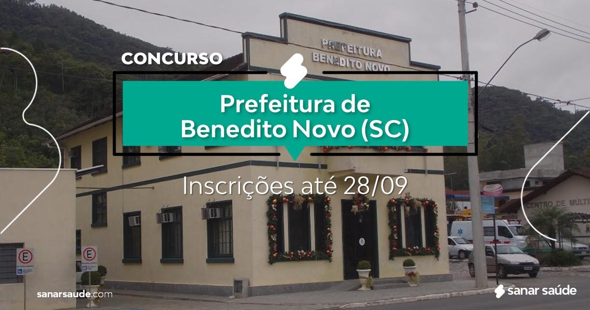 Concurso de Benedito Novo - SC: cargos na Saúde!