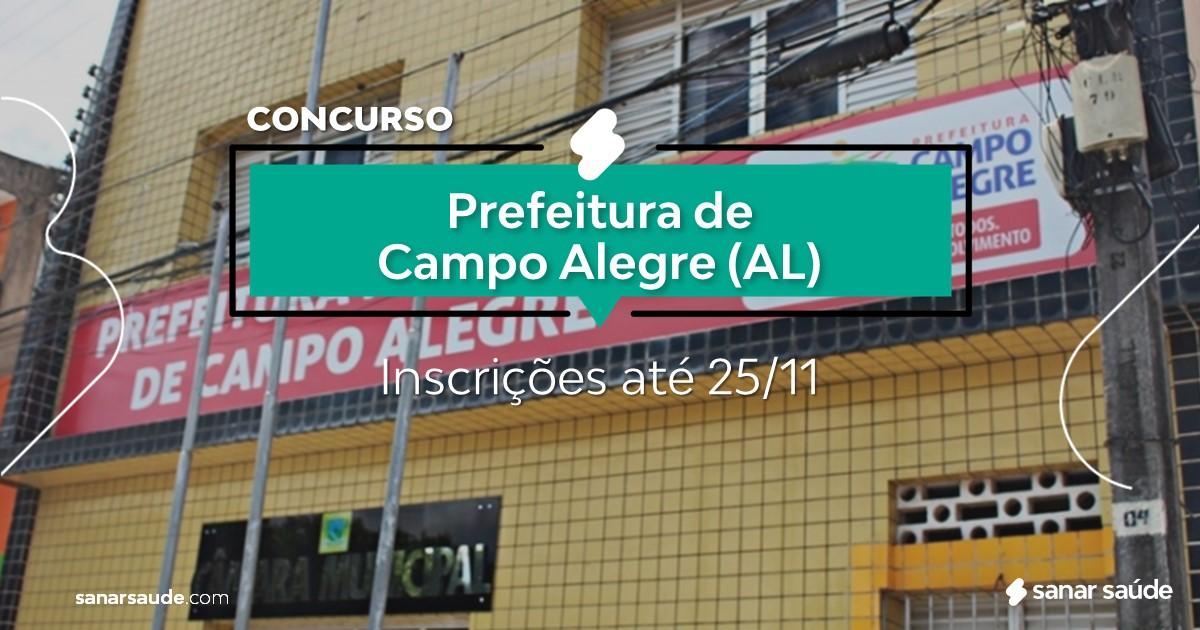 Concurso de Campo Alegre - AL: vagas na Saúde para médicos!
