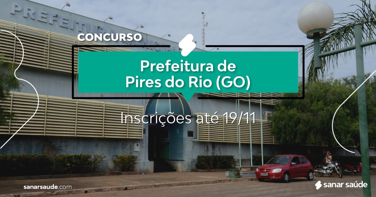 Concurso de Pires do Rio - GO: vagas na Saúde para psicólogos!