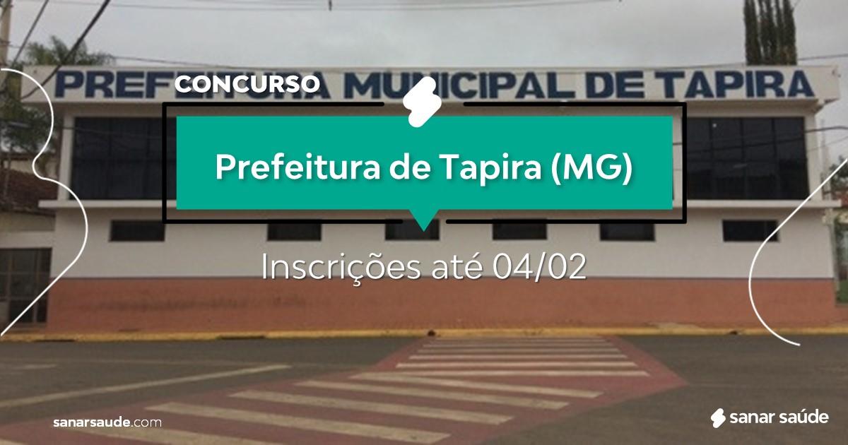 Concurso de Tapira - MG: vagas na Saúde!