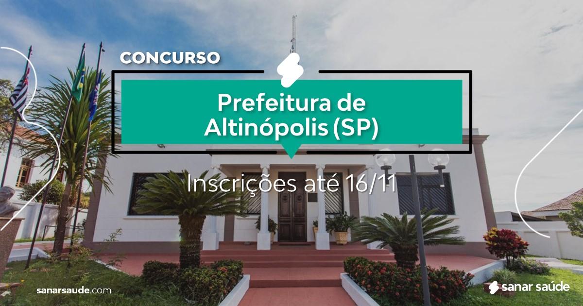 Concurso de Altinópolis - SP: vaga na Saúde para psicólogo!